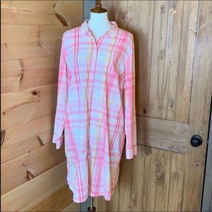 Tommy Hilfiger plaid shirt dress Size XXL